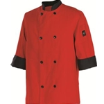 Chef\\'\\'s Jacket, 3/4 Sleeves, Large