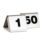 S/S Table Tent Sign Numbers 1 thru 252 1/2 X 2 X 2