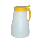 Dripcut White Poly. White Plastic Top Dispenser 64 oz.