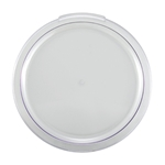 Winco PRC-1218C Cover Round Clear 12-18 Qt