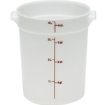 White Round Container, 4 qt.
