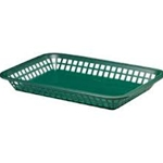 Plastic Food Basket Forest Green Rectangular11 3/4 X 8 1/2 X 1 1/2