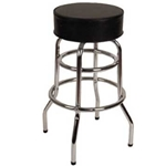 Stool Bar Blk Rd Backless Seat