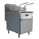 Entree F3-N Natural Gas Fryer 40 lb Oil Capacity - Includes Casters (1 Year Parts/Labor Warranty)