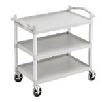 Cambro BC340KD110 Utility Cart 3 Shelves 31 x 20 x 37 Black
