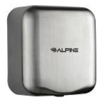 Alpine 400-10-SSB Hand Dryer Automatic , 10 Second Dry Time, Brushed Stainless Steel Finish 120v