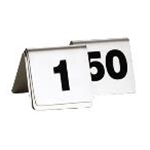 Tablecraft T150 S/S Table Tent Sign Numbers 1 thru 50 2 1/2 X 2 X 2