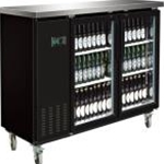 Entree BB-2D-70-G Glass Door Back Bar Cooler 69\