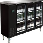 Entree BB-3D-90-G Glass Door Back Bar Cooler 90\