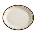 Brown Speckle Dune Platter, 11-1/2\
