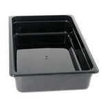 Black Food Pan, Full Size X 6\
