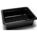 Black Food Pan, 1/2 X 4\
