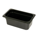 Black Food Pan, 1/4 X 4\