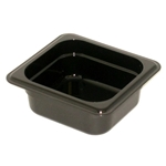 Black Food Pan, 1/6 X 2\