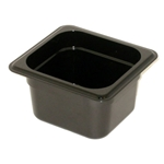 Black Food Pan, 1/6 X 4\