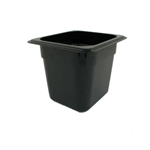 Black Food Pan, 1/6 X 6\