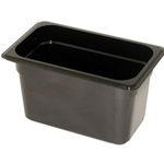 Black Food Pan, 1/4 X 6\