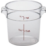 Clear Round Container, 1 qt.