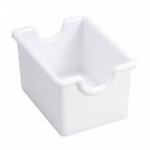 Winco PPH-1W Plastic Sugar Caddy White