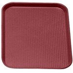 Burgandy Fast Food Tray, 14\