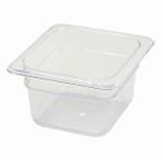 Winco SP7604 Food Pan Clear 1/6 X 4\