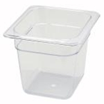 Winco SP7606 Food Pan Clear 1/6 X 6\