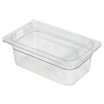 Clear Food Pan, 1/4 X 4\