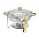 Winco 203 Chafer Round Gold Accents