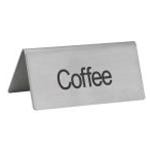 Winco SGN-103 S/S Coffee Sign