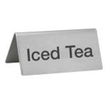 Winco SGN-105 S/S Iced Tea Sign