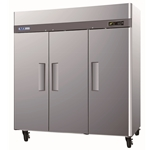 Turbo Air 3 Door Freezer, Top Mount
