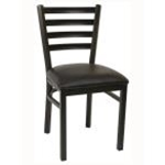 ATS 77 GR4 Side Chair Black Powder Coat Finish Ladder Back