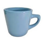 CAC China LV-1-Lb Rolled Edge Blue Tall Cup