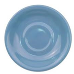 CAC China LV-2-LB Rolled Edge Blue Saucer