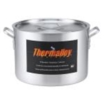 Browne 5814326 Thermalloy 26 Qt. Aluminum Heavy Weight Sauce Pot