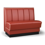 Robertson Furniture Comapany P510 Americana Series Upholstered Booth Vertical Channel Back