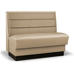 Robertson Furniture Company P540 American Series Upholstered Booth Horizontal Channel Back