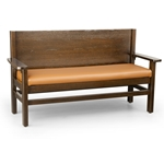 Robertson Furniture W300A Hartwell Series Wooden Booth Settee Bench With Arms