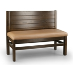 Robertson Furniture W300 Hartwell Series Wooden Booth Wood Back
