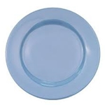 CAC China LV-9-LB Rolled Edge Blue Plate