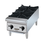 Toastmaster TMHP2 Hot Plate Counter Top Natural Gas Stainless Steel Front 44,000 BTU