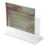 Winco ATCH-53 - Menu Card Holder / Number Stand (5 1/2\