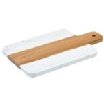 Winco SBMW-156 - Marble & Wood Serving Board (11 1/2\