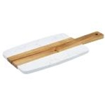 Winco SBMW-157 - Marble & Wood Serving Board (10 3/4\