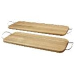 Tablecraft ACAMR2007 - Wood Display Board with Nickel Handles (17\
