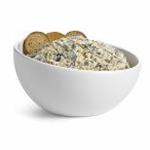 Tablecraft M4090WH - Medium Round Bowl - Melamine - (2 Qt.) - Sierra Melamine Collection