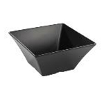 Tablecraft BKMB125 - Square Bowl (Black) - Melamine - (6.8 Qt.) - Frostone Collection