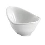 Tablecraft MB42 - Wavy Oval Bowl (White) - Melamine - (3.5 oz.) - Frostone Collection