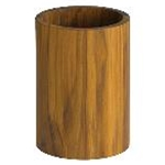 Tablecraft CHTK557 - Round Teak Cutlery Holder (5\