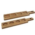 Tablecraft FLIGHT2 - Wood Paddle Flight - (Holds 4 Glasses) - Bamboo